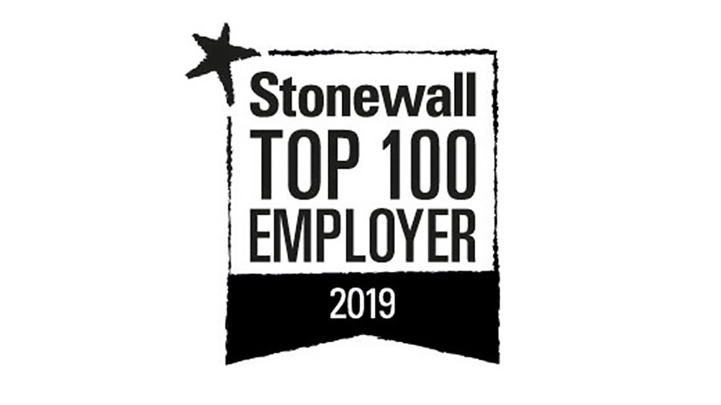 Stonewall top 100 emplyer logo