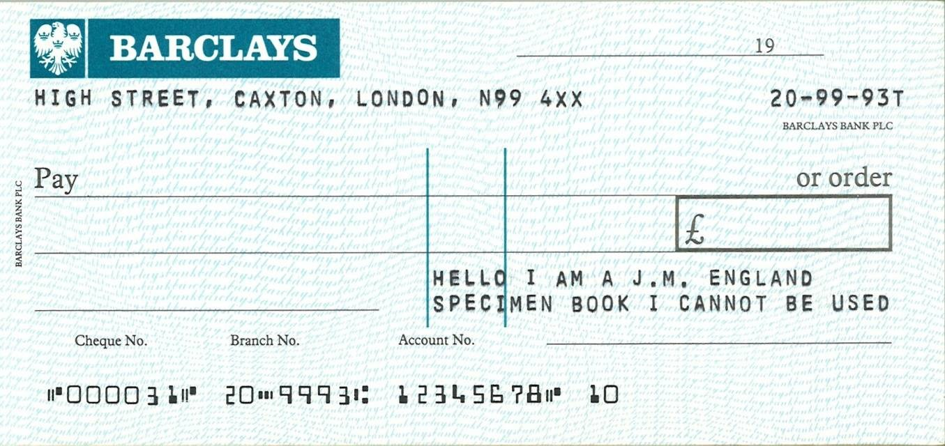 how to write a cheque to a joint account