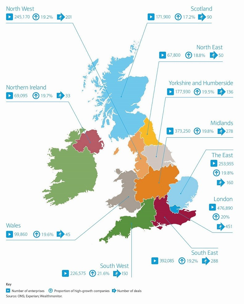 UK and Northern Ireland regional enterprise activity