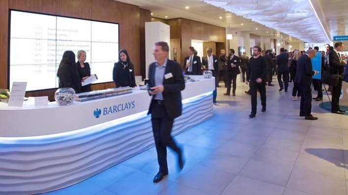 Barclays digital conference reception
