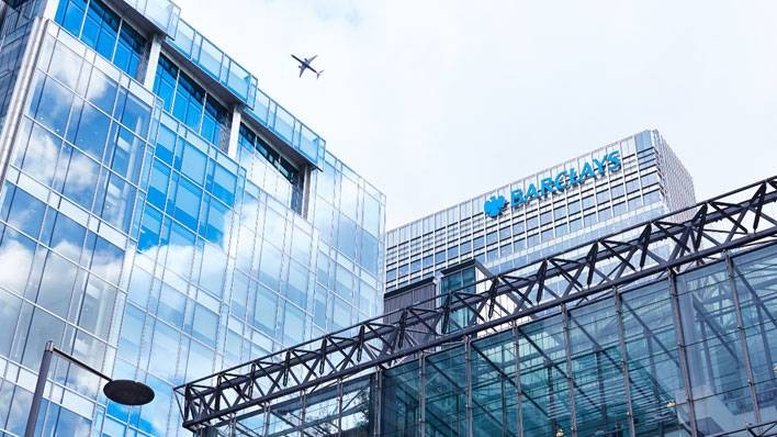 Barclays HQ, 1 Churchill Place, London (aeroplane)