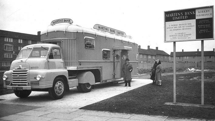 Martins mobile branch at Kirkby