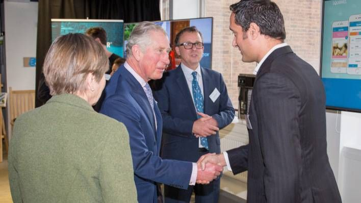 HRH The Prince of Wales visits Barclays Eagle Lab in London