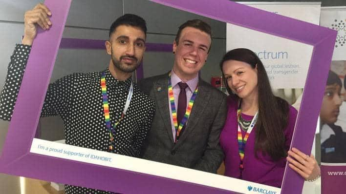 Barclays colleagues supporting IDAHOBIT