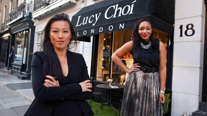 Shoe designer Lucy Choi and entrepreneur Bianca Miller-Cole
