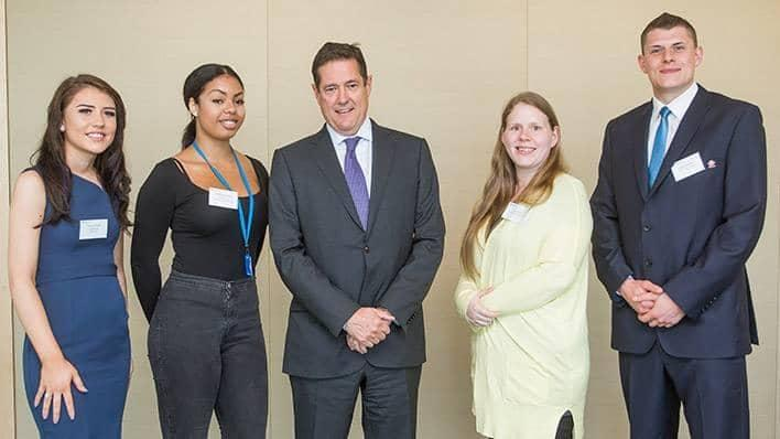 Barclays CEO Jes Staley and Connect with Work beneficiaries