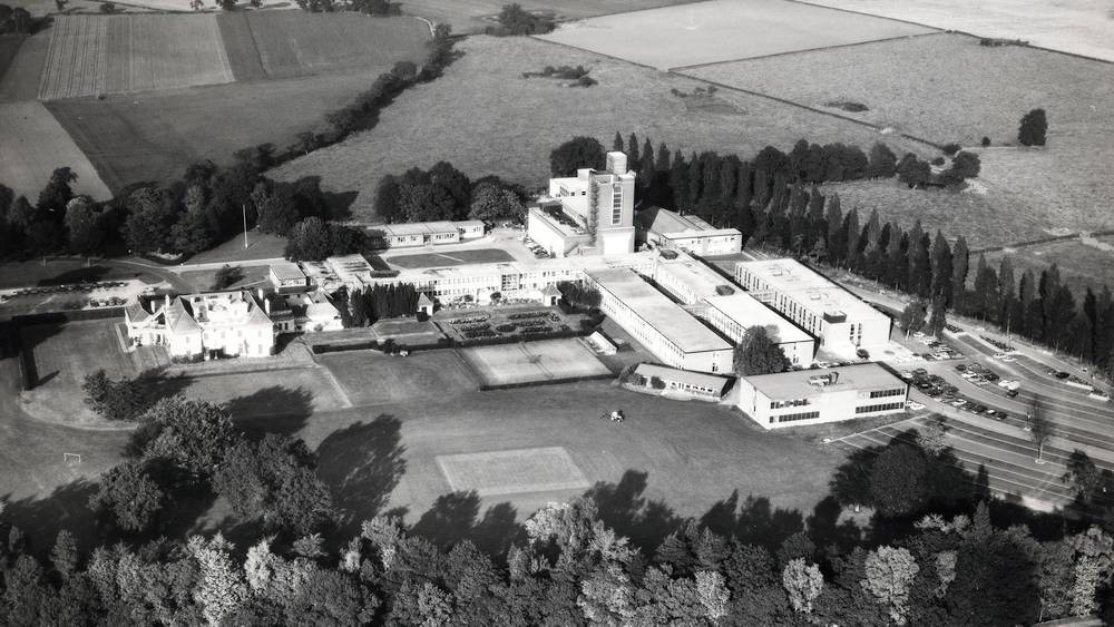 Radbroke Hall aerial view