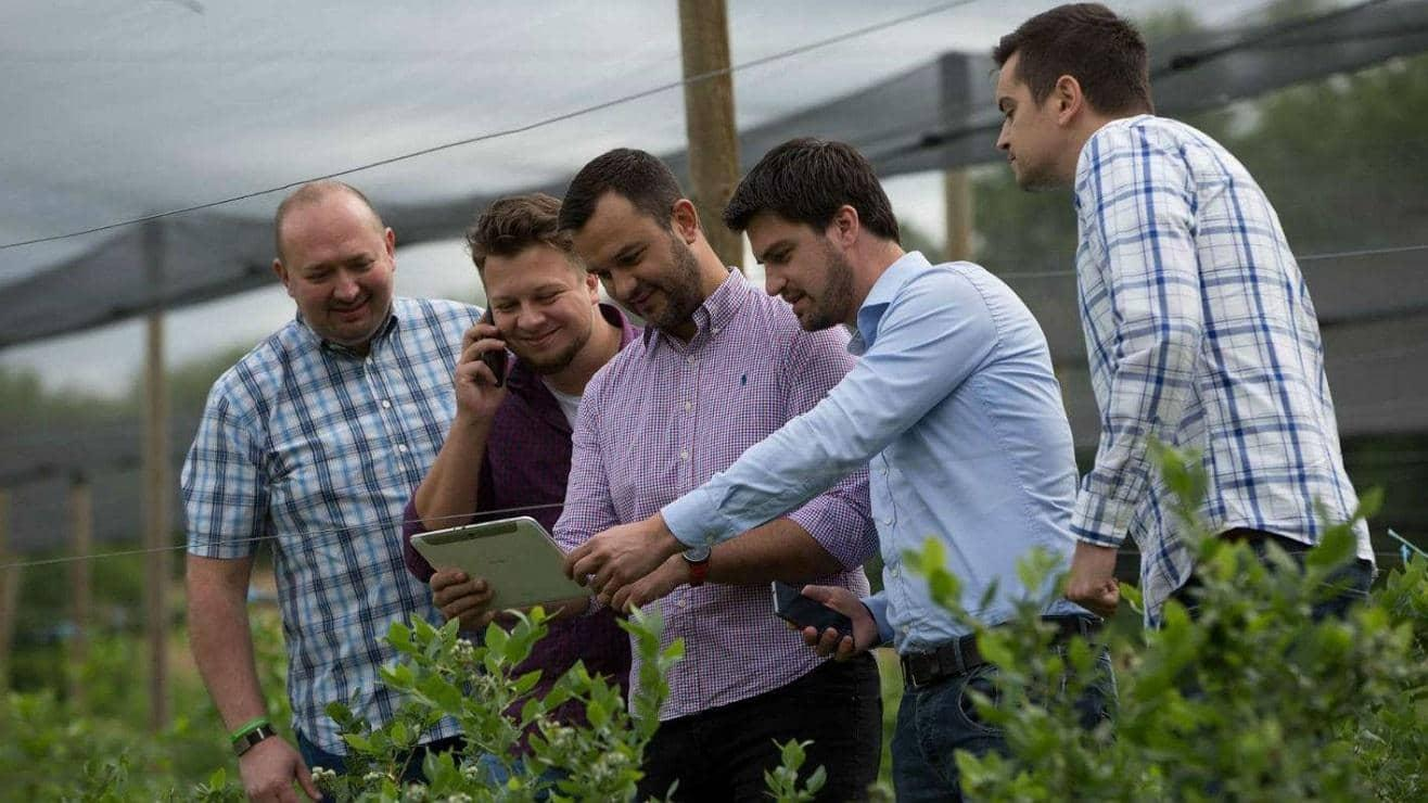 Agrivi CEO Matija Zulj with colleagues