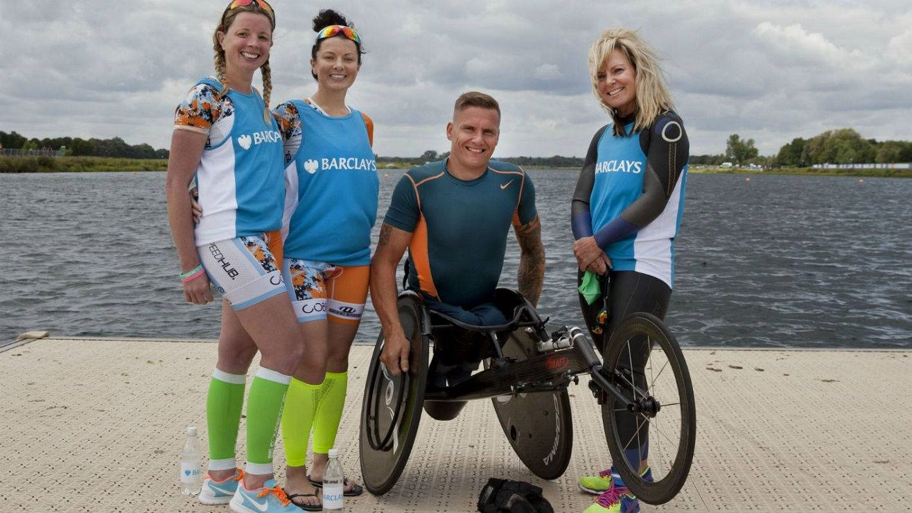 Team Barclays (from left to right): Emily Campbell, Laura Turner, David Weir and Tracy Cox-Smyth