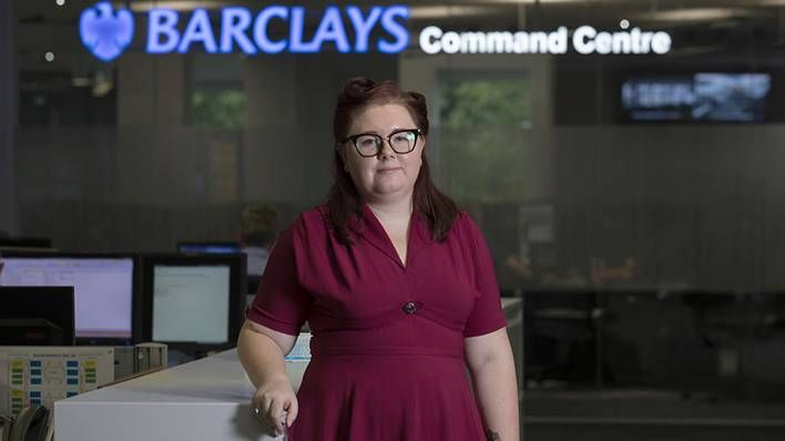 Chelsea Reid at the Barclays Command Centre, Radbroke Technology Centre