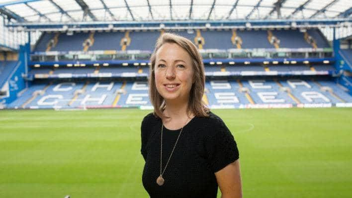 Anna Kessel at Stamford Bridge, Chelsea FC