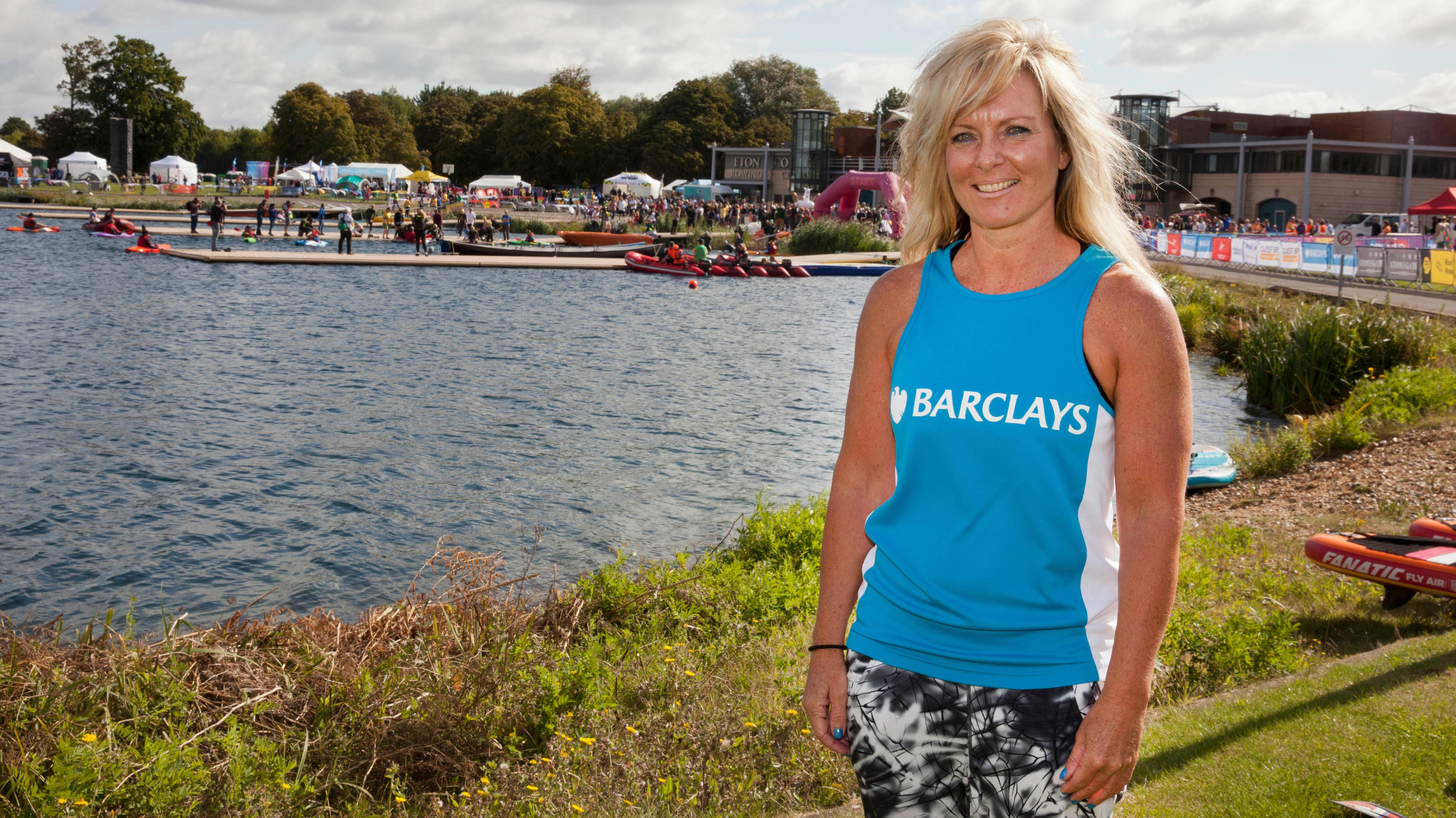 Tracy Cox-Smyth stood by lake