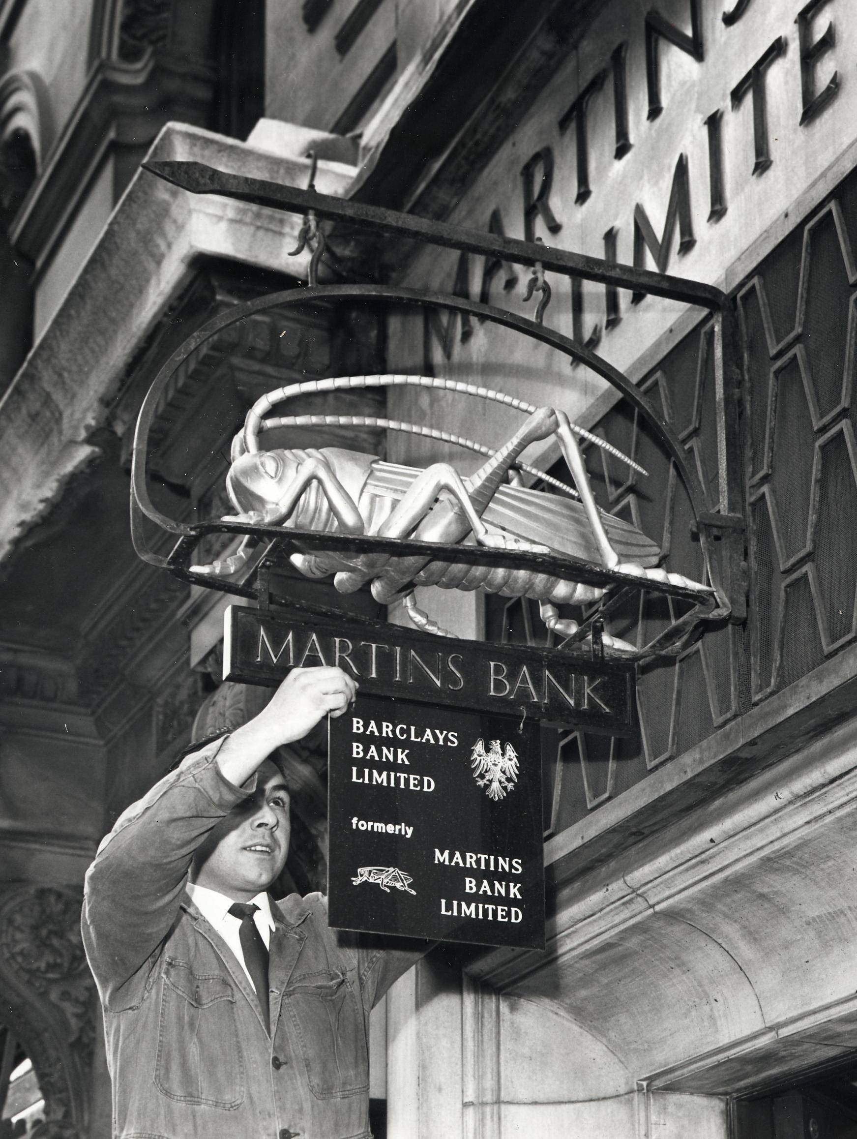 Martins Bank and Barclays Bank signs, Liverpool