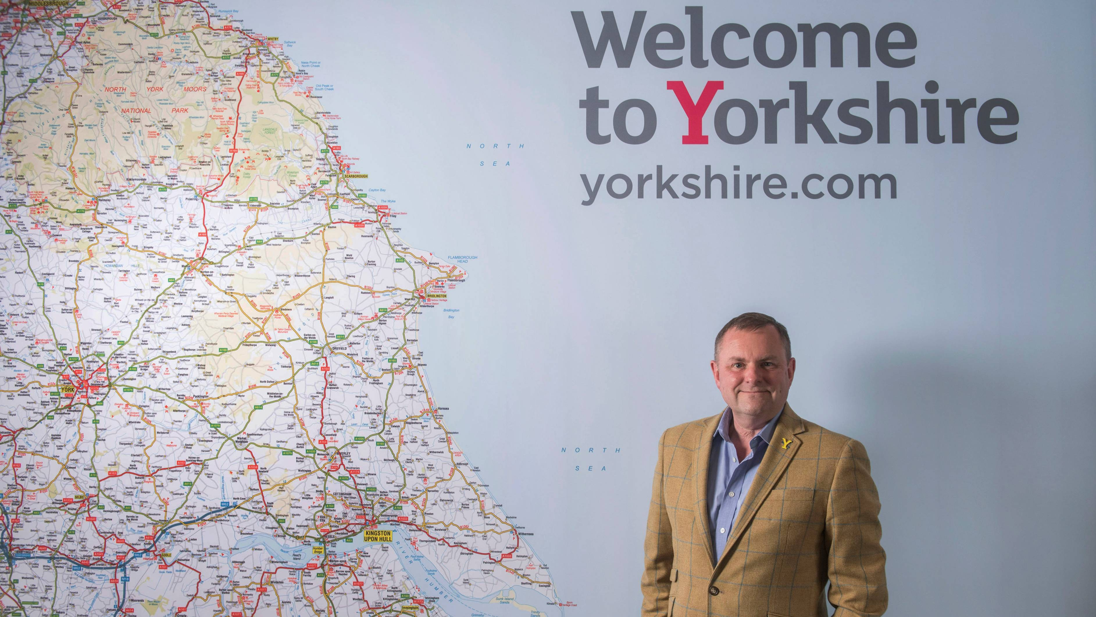 Sir Gary Verity, Welcome to Yorkshire county map