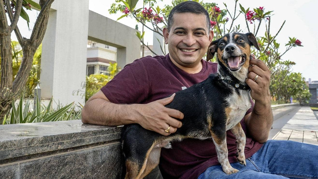 Sujit Unni with his Jack Russell