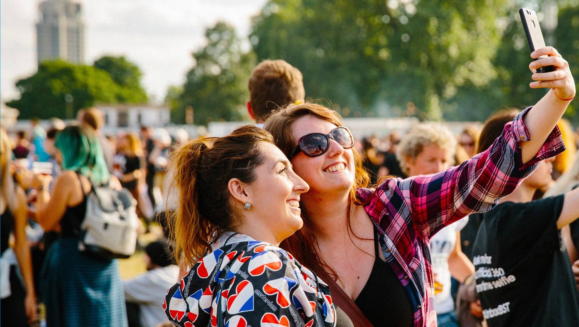 Barclaycard British Summer Time festival goers