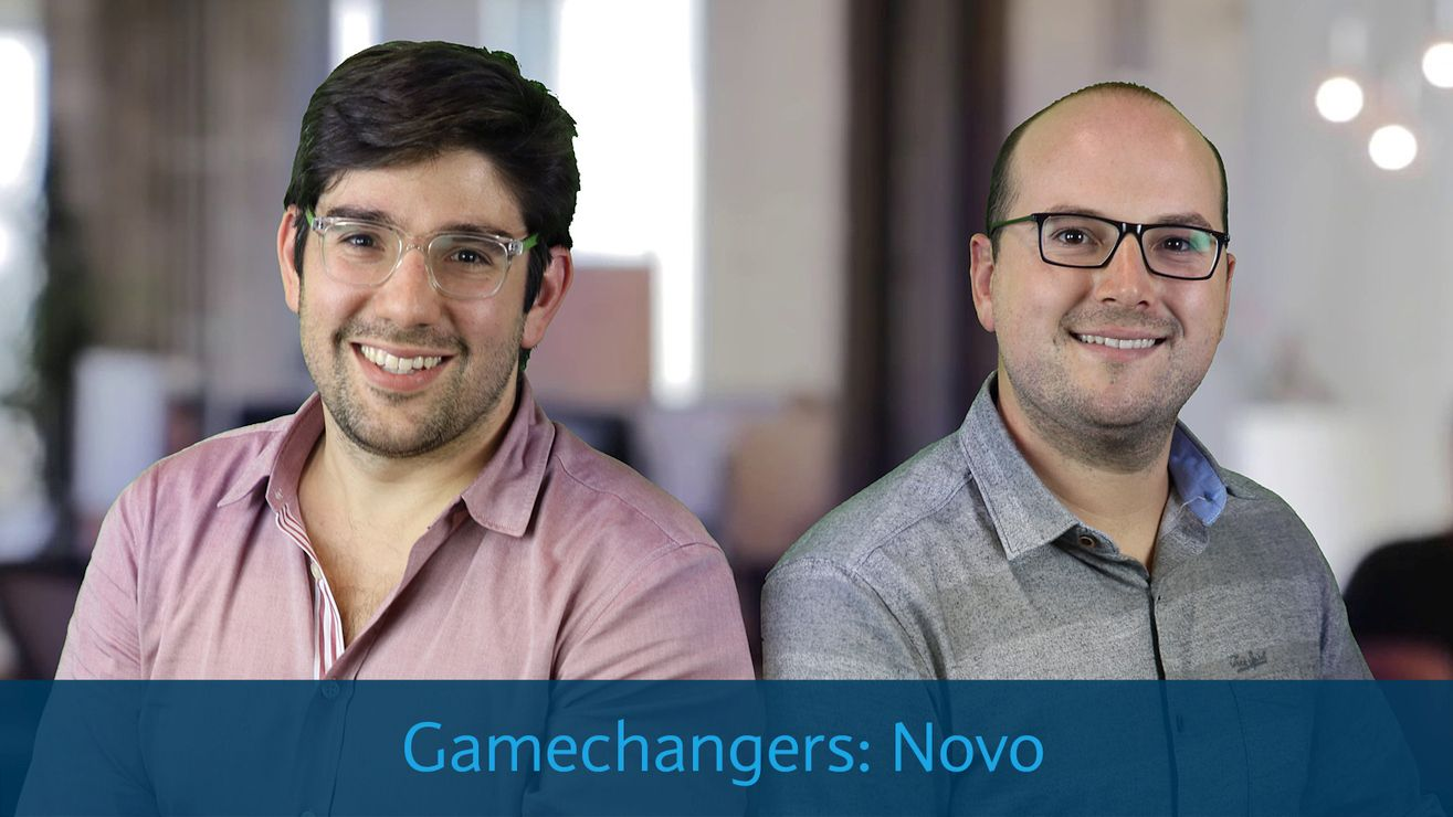 Tyler McIntyre and Michael Rangel, founders of small business banking fintech Novo