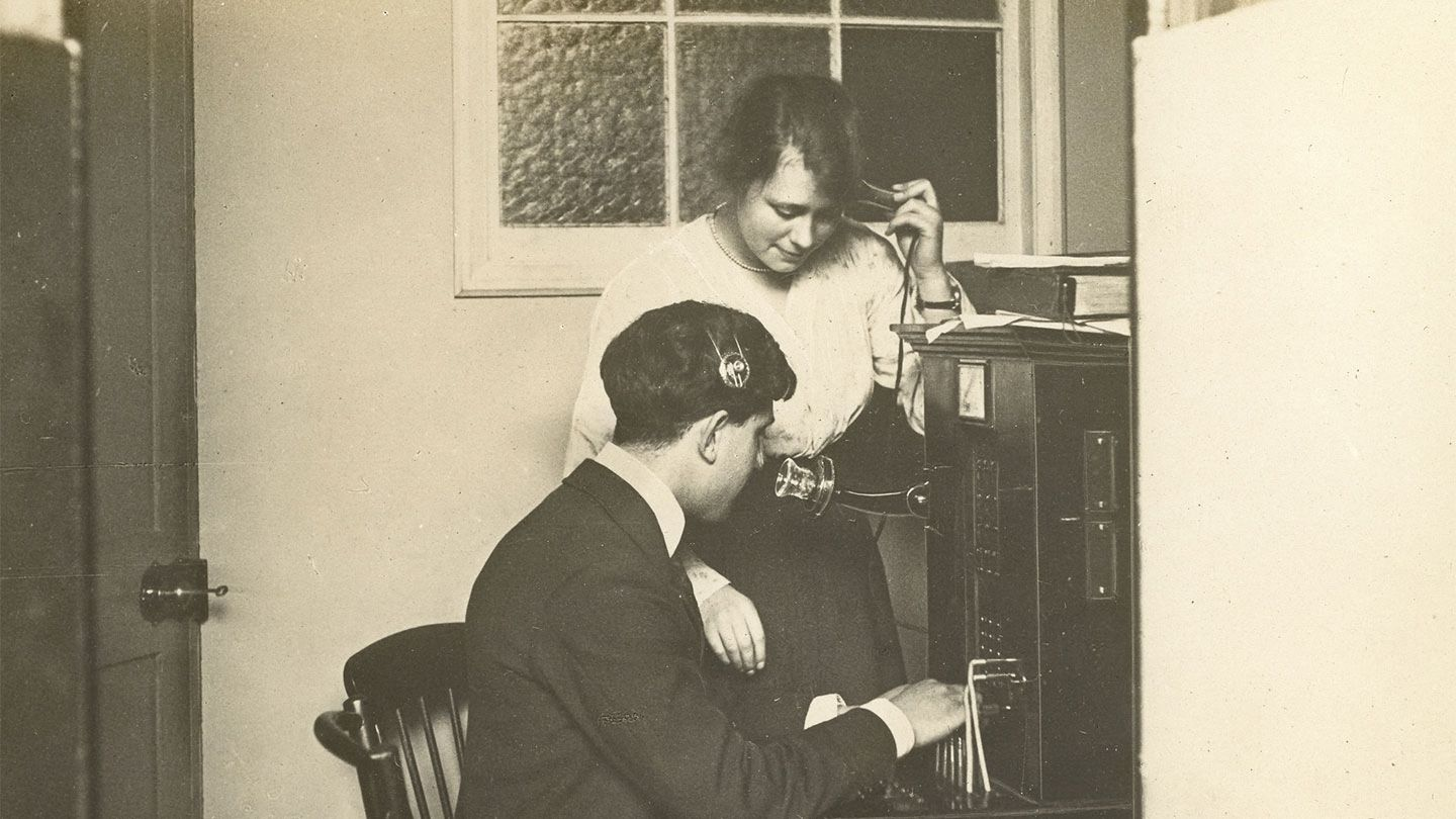 Blind men were employed as telephonists at a time when there was little employment for people with disabilities.