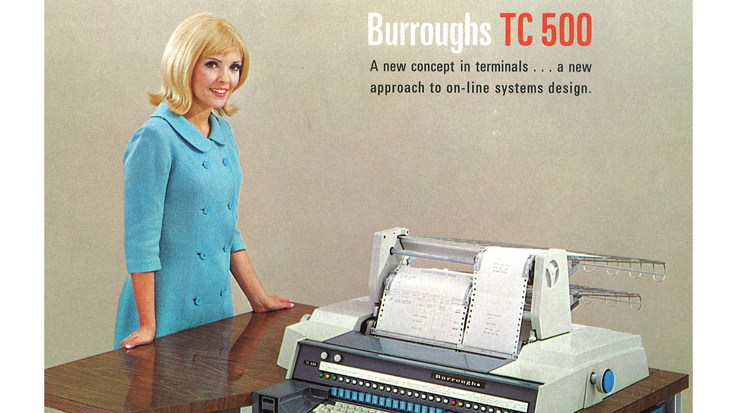 Front cover of the Burroughs TC 500 training manual