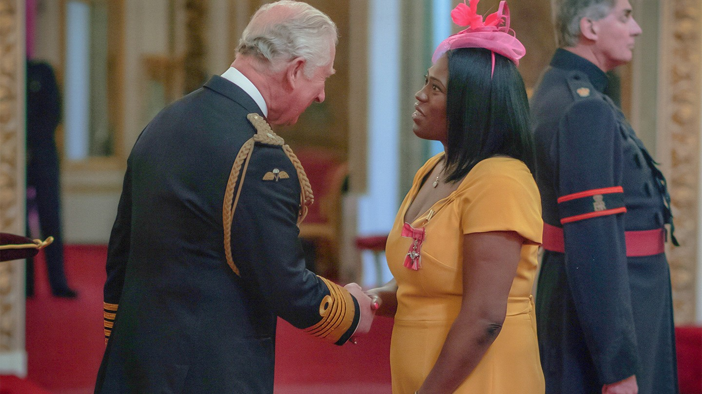 Sabrina Boanu-Williams and Prince Charles.