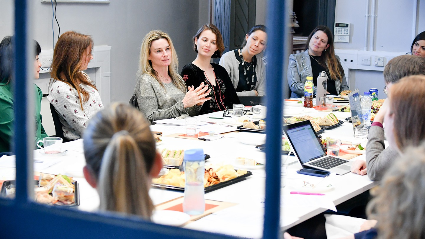 Participants at a Barclays Female Founders Forum roundtable event.