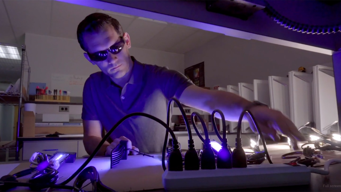 Man develops antimicrobial LED technology in a lab