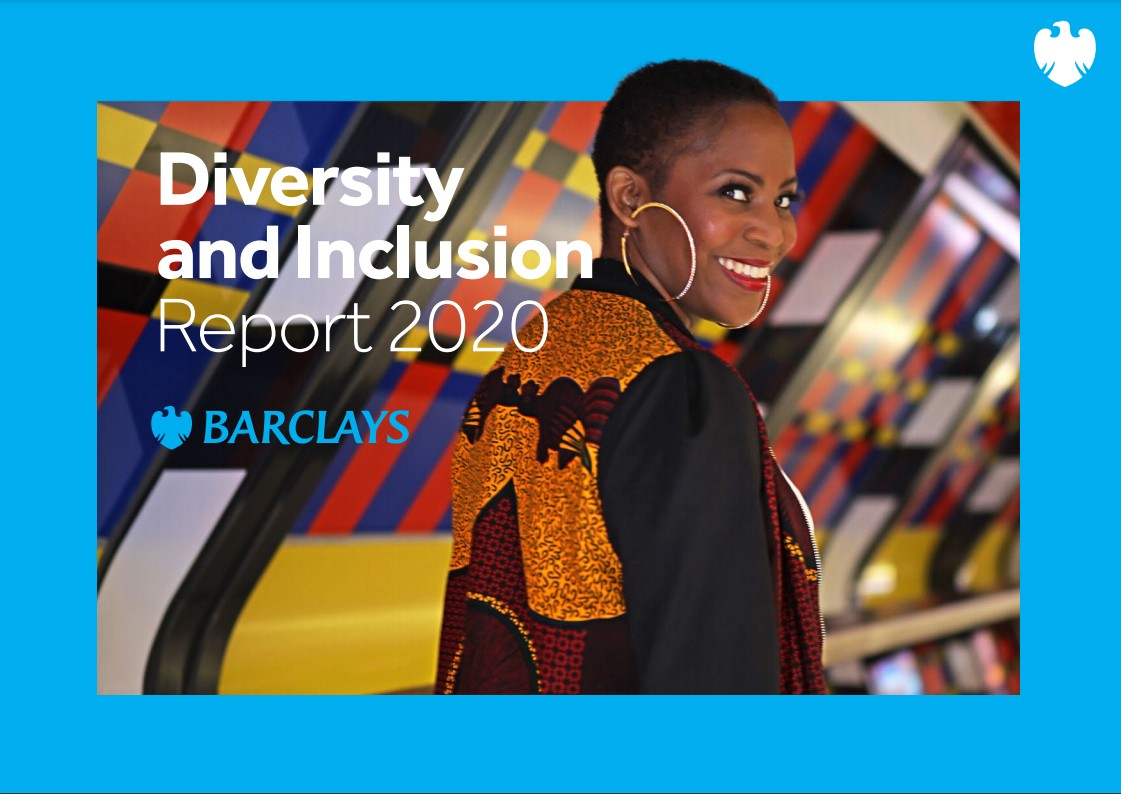 Barclays' Diversity and Inclusion Report 2020 cover