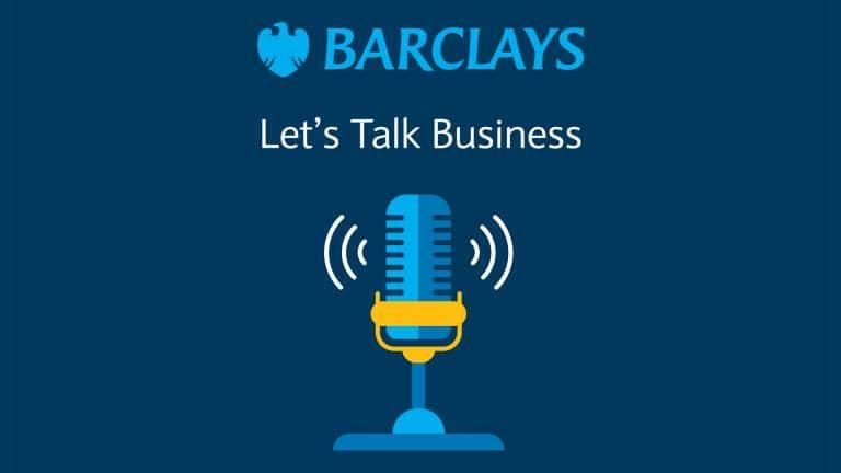 Barclays' Let's Talk Business logo