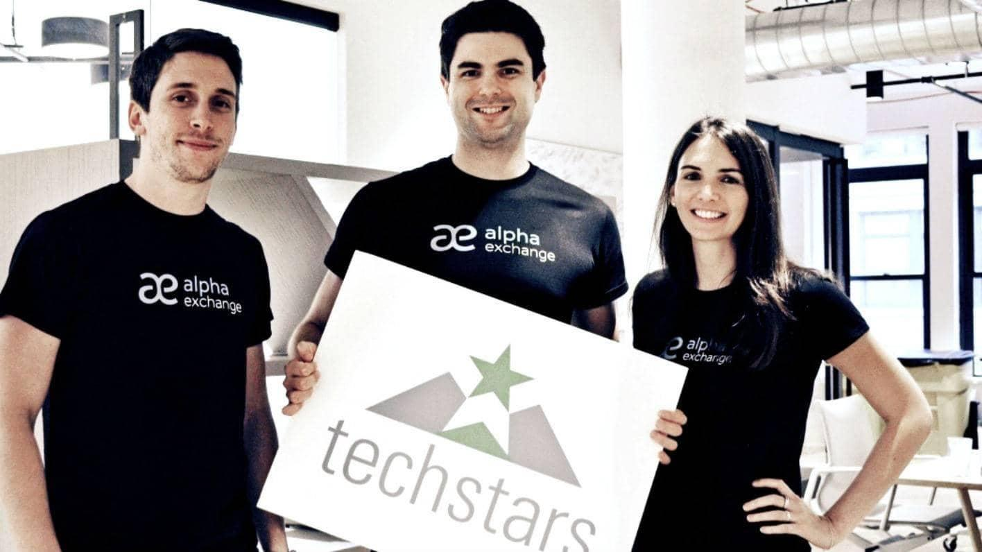 Alpha Exchange Co-Founders (from left): Alex Santos, Scott Winship and Emma Margetts