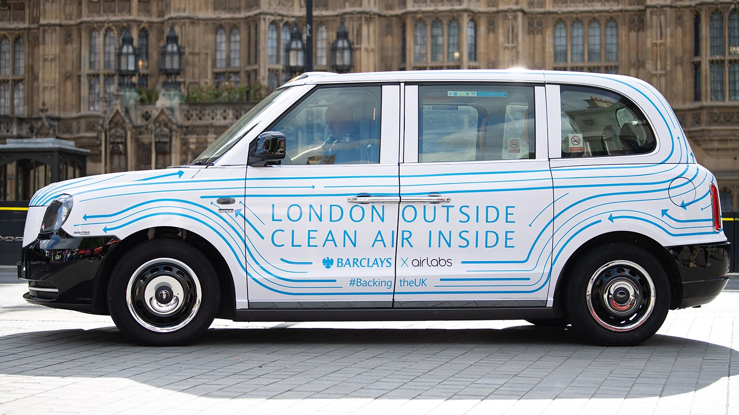 Air cabs is bringing Londoners a breath of fresh air thanks to Airlabs' unique air cleaning device which removes up to 95% of pollutants.