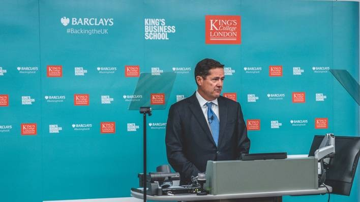 Barclays CEO Jes Staley at King's College London