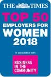 Top 50 employers for women 2018 logo