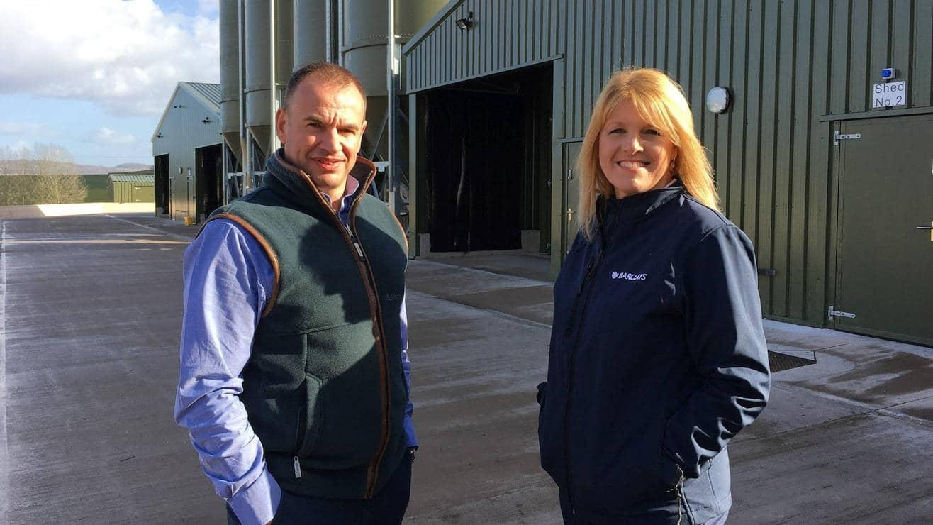 Richard Williams with Barclays Agriculture Manager, Kath Whitrow