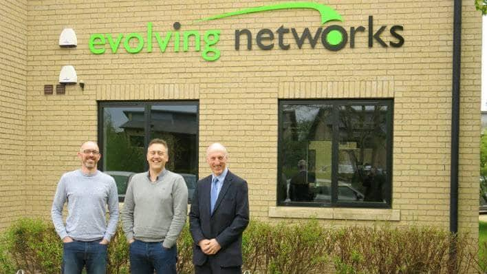 Nic Elliott (Chief Technology Officer), Nick Johnson, (Managing Director), and Neil Collott, Barclays Business Manager, Peterborough