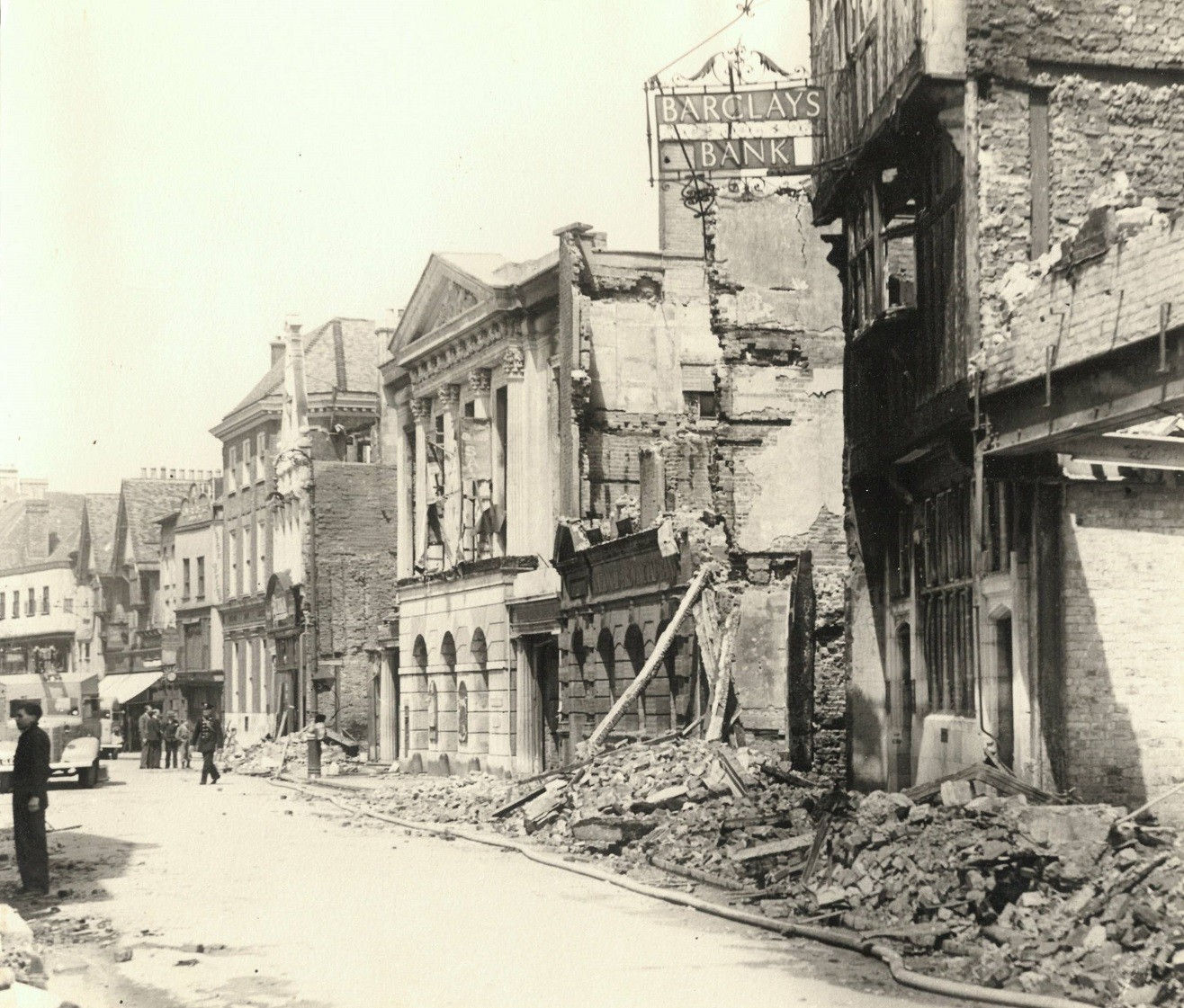 Barclays Canterbury branch during The Blitz