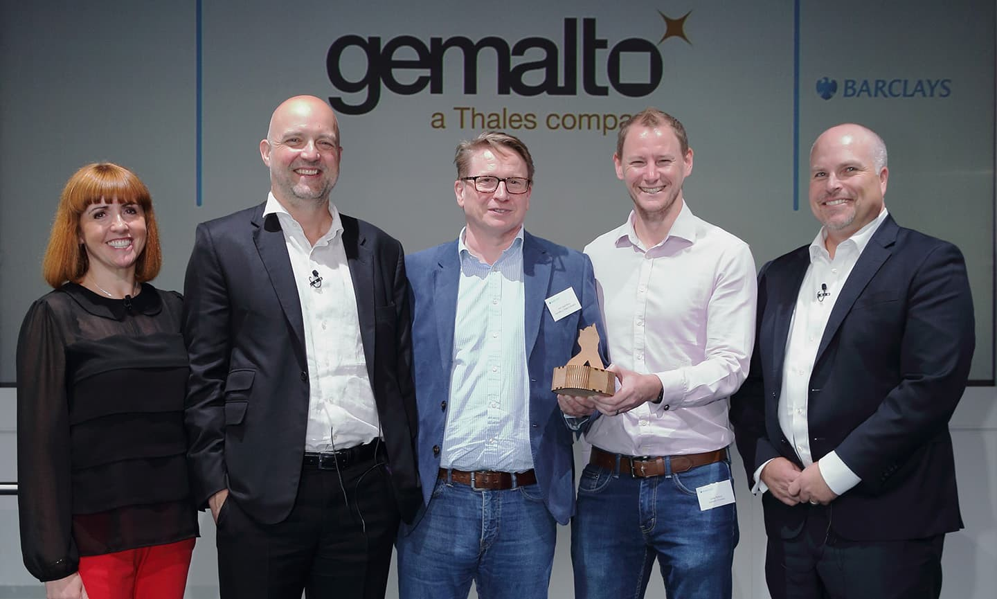 Gemalto accepting their award
